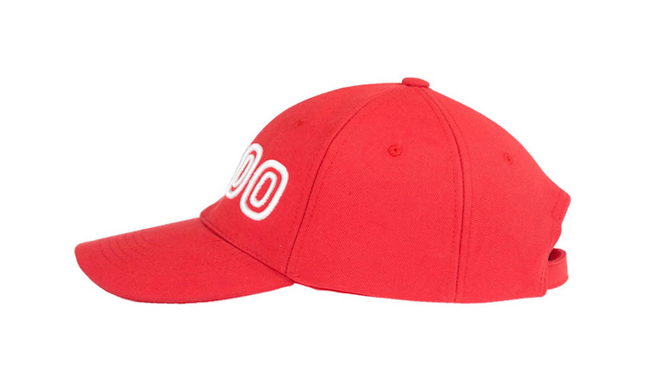 Basecaps T-300 Rot Seitlich Rechts