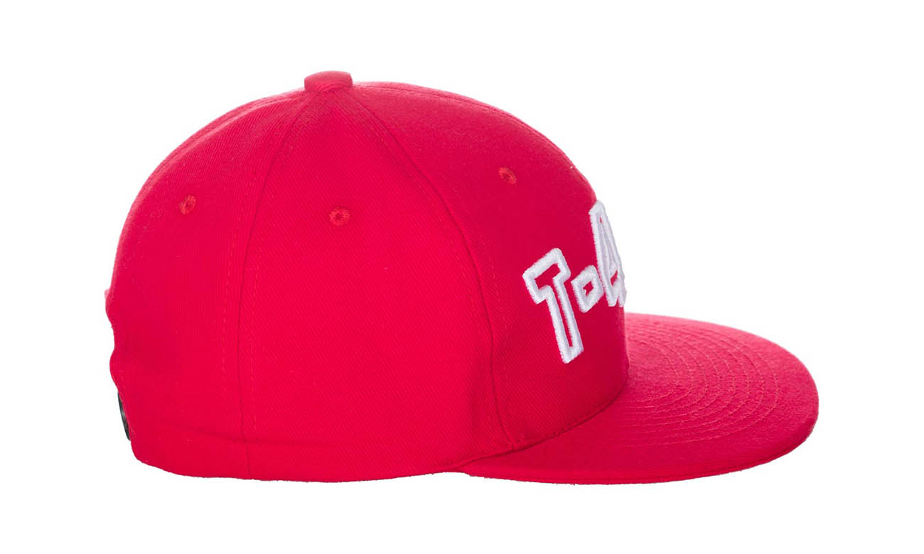 Hip-Hop Caps T-400 Rot Seitlich Links
