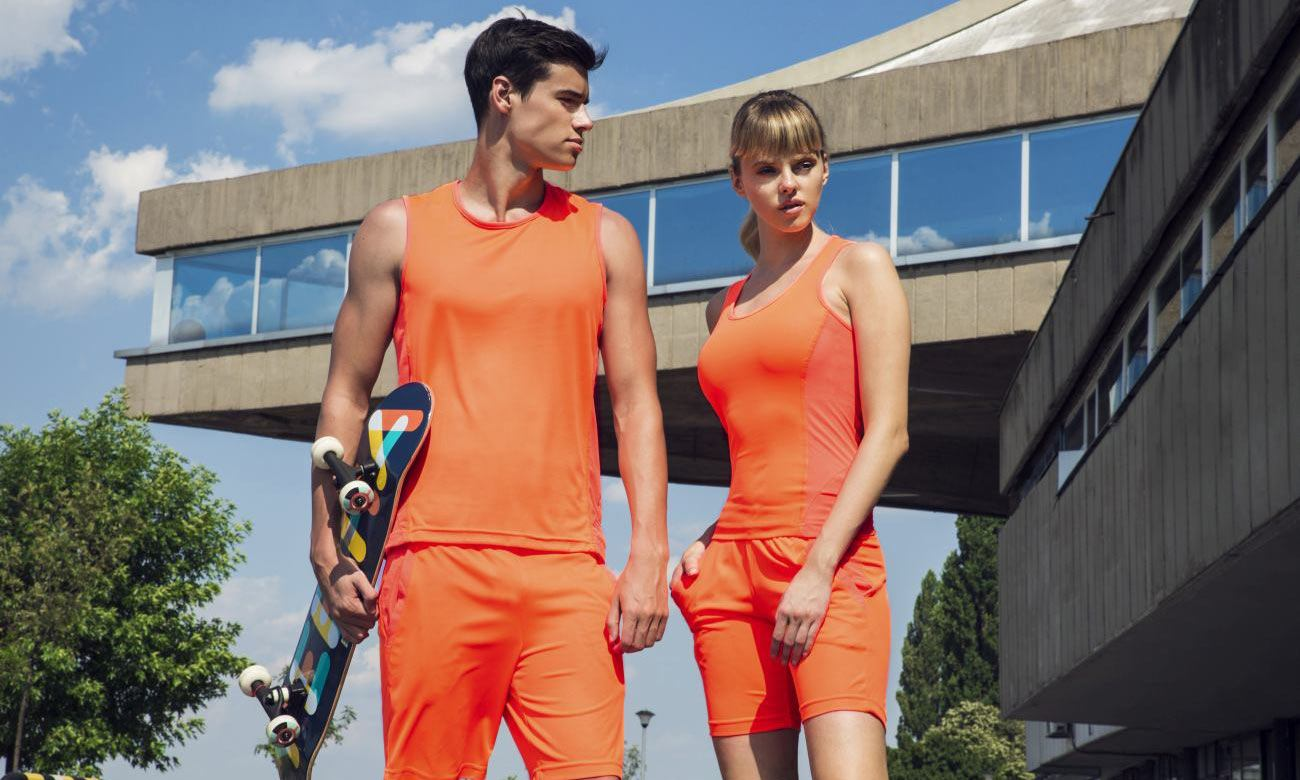 Laufshirts ST-143 Neon Orange Fashion