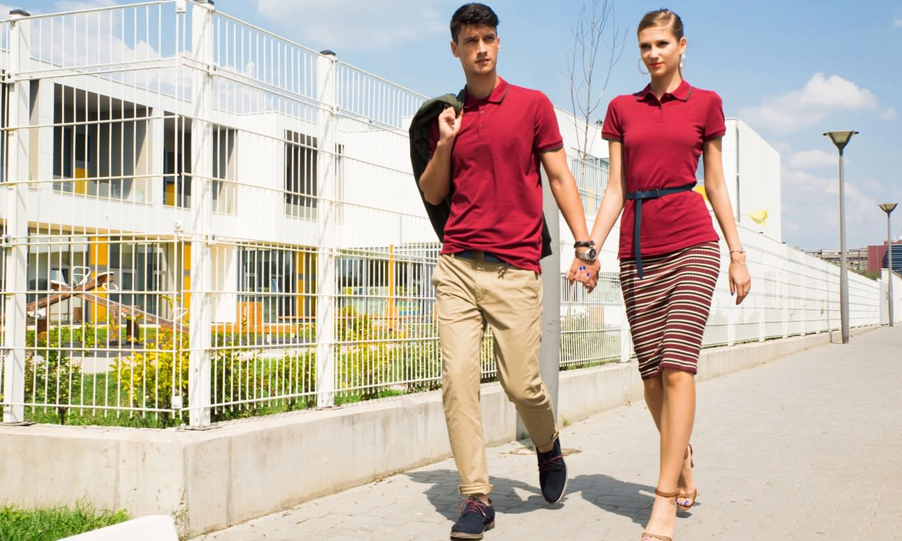 Poloshirts ST-203 Bordeaux-Dunkelgrün Fashion