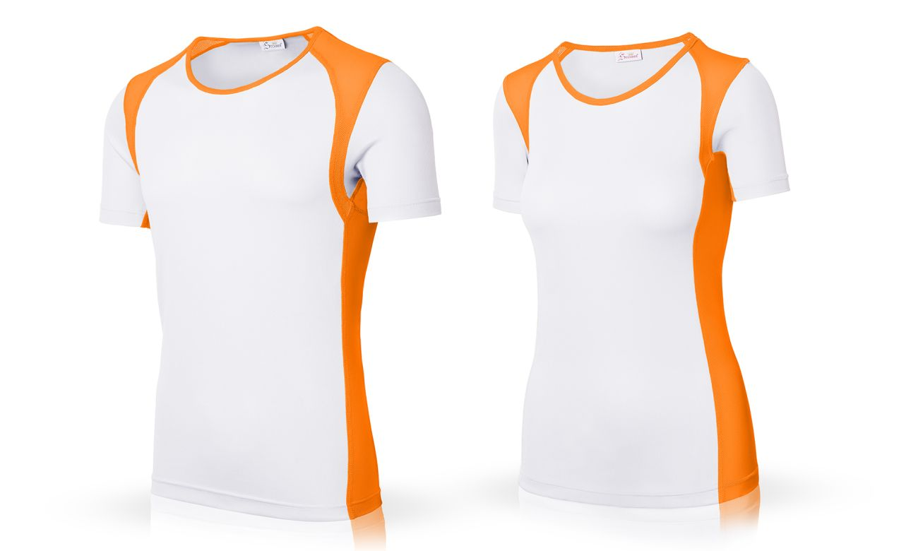 Sportshirts ST-140 Weiss-Orange