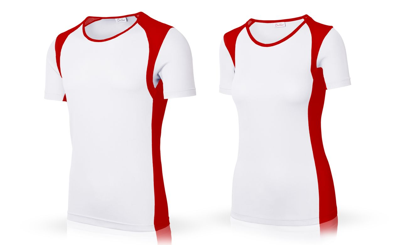 Sportshirts ST-140 Weiss-Rot